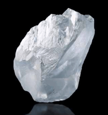 109.40 ct rough diamond . Photo: Lucara