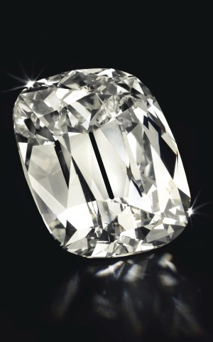 Cushion cut L Color, VS2 101.36 carats diamond Image: Christie's