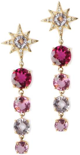 diamond market in chaos Detailed design, color and small diamonds: Multicolored spinel, gold and pave diamonds. By ANZIE http://www.Anzie.com