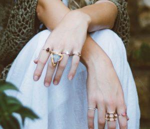 Diamond decade: Fashion rings set with diamonds. Photo: Brooke Cagle.